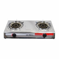 Deluxe Portable Propane Gas Stove Double Head Burner and Regulator Hose