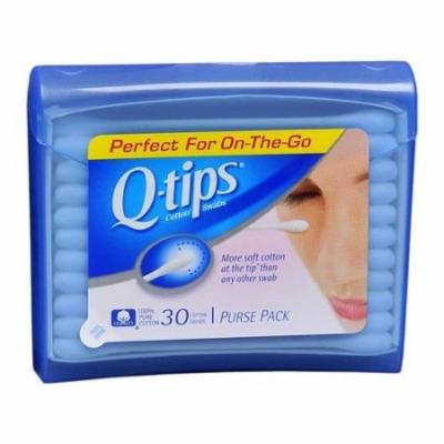 4 Pack - Q-Tips Cotton Swabs,Travel Size Purse Pack, 30 Swabs Each