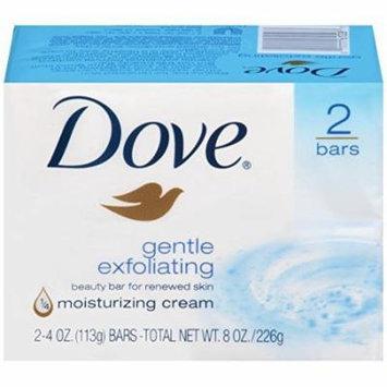 6 Pack - Dove Gentle Exfoliating Beauty Bars White 8.40oz 2 Bars Each