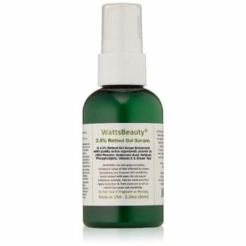 Watts Beauty Antiaging 2. 5% Retinol Gel Serum Enhanced with 50 Hyaluronic Acid, 2. 24 oz
