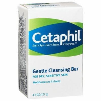 4 Pack - Cetaphil Gentle Cleansing Bar for Dry/Sensitive Skin 4.50oz Each