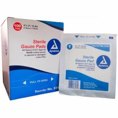 Sterile Gauze Pads by Dynarex, 4