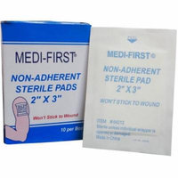 Medi-First Non-Adherent Sterile Gauze Pads, 2