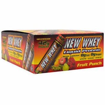 New Whey Liquid Protein, Fruit Punch, 12 CT