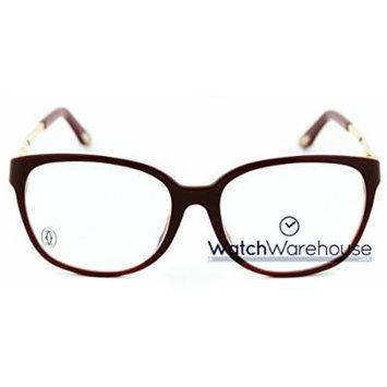 Cartier Trinity Burgundy Golden Metal Women Optical Glasses EYE00029