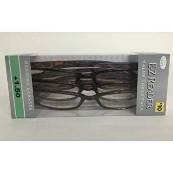 (6 pack) FGX E-Z Reader Reading Glasses Hadley tortoise +1.50 New