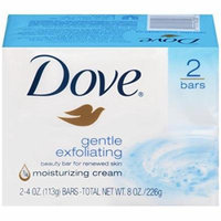 3 Pack - Dove Gentle Exfoliating Beauty Bars White 8.40oz 2 Bars Each