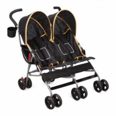 Delta Children City Street LX Side by Side Stroller, Orange