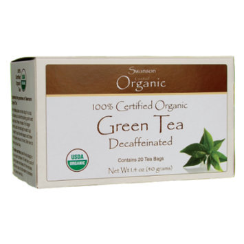 Swanson 100% Certified Organic Green Tea Decaffe 20 Bag(S)
