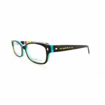 KATE SPADE Eyeglasses LUCYANN 0X77 Tortoise Aqua Striped 49MM