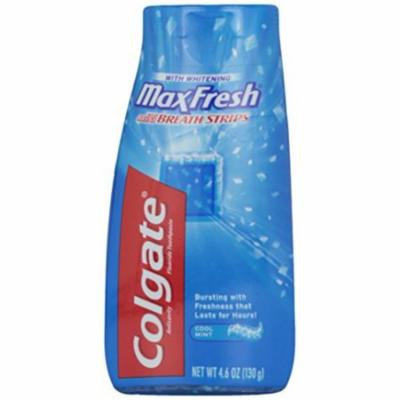 4 Pack - Colgate MaxFresh Toothpaste Gel Whitening Cool Mint 4.60oz Each