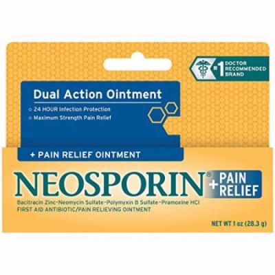 2 Pack - Neosporin Maximum Strength Antibiotic + Pain Relief OINTMENT 1oz Each