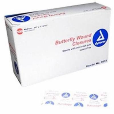 Adhesive Bandages Butterfly Closures Dynarex Brand 1 3/4