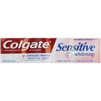 2 Pack - Colgate Sensitive Maximum Strength Whitening Toothpaste 6oz Each