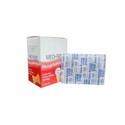 Medi-First Adhesive Bandages Heavy Weight Fabric Large Fingertip 250 Bandages MS-28557