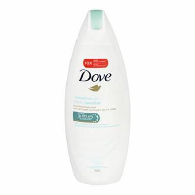 3 Pack - Dove Sensitive Skin Beauty Body Wash 12oz Each