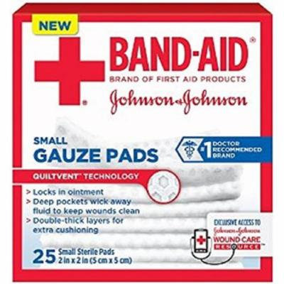 2 Pack - BAND-AID First Aid Small Gauze Pads, 2 in x 2 in, 25 Each