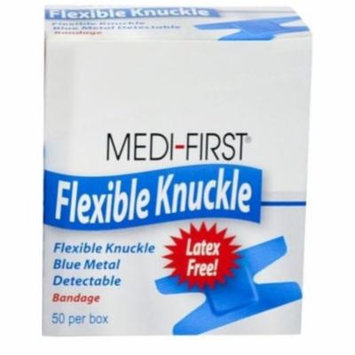 Adhesive Bandages Blue Metal Detectable Cloth Knuckle 400 Bandages MS-29240