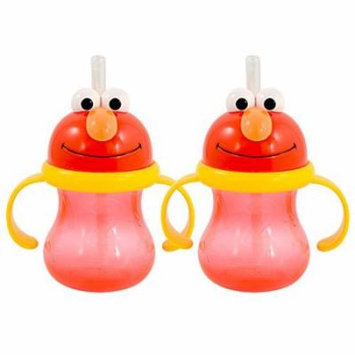 Munchkin Sesame Street Elmo Straw Cup 8 Ounce, 2 Pack - Red
