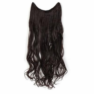 """OneDor 20"""" Curly Transparent Wire Hair Extensions (Dark Brown-4#)"""