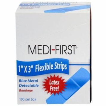 Medi-First, Blue Metal Detectable Bandage, Cloth Strip, 1