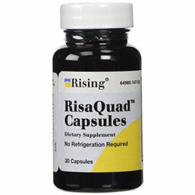 2 Pack - Rising Pharmaceuticals Risaquad Capsules, 30 Count Each