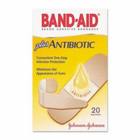 6 Pack - BAND-AID Plus Antibiotic Bandages Assorted Sizes 20 Each