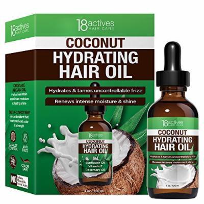 18actives Coconut Hydrating Hair Oil, 4 Fluid Ounce