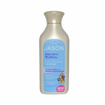 Jason Natural Products 0977504 Restorative Biotin Pure Natural Shampoo, 16 fl oz