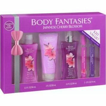 Body Fantasies Japanese Cherry Blossom Body Gift Set, 5 pc