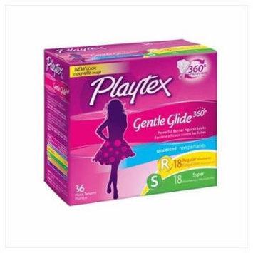 3 Pack Playtex Gentle Glide Tampons MultiPack,Unscented,18regular/18super 36 Ea