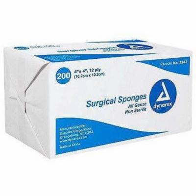 Dynarex Non-Sterile Gauze Pads Surgical Sponges 4
