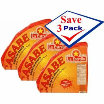 Imported cassava bread. Casabe. Natural, imported. 12 oz Pack of 3