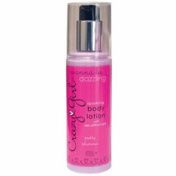 Crazy Girl Sparkling Body Lotion w/Sex Attractant - 6 oz Pump Bottle Plumeria