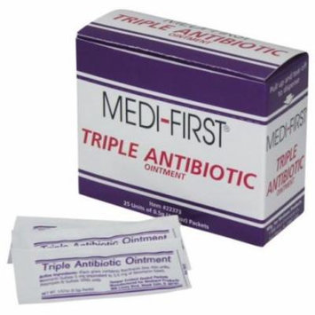 Medi-First, Triple Antibiotic Ointment, 0.5g packets 3 Boxes ( 75 packets ) MS-60772