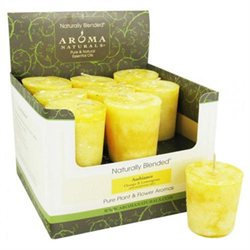 Aroma Naturals Votive Candle - Amber Lemon - Case of 18
