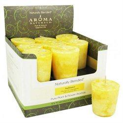 Aroma Naturals Votive Candle - Amber Lemon - Case of 18