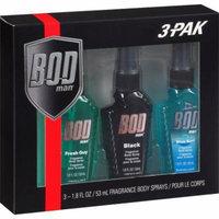 BOD Man Fragrance Body Sprays, 1.8 fl oz, 3 count