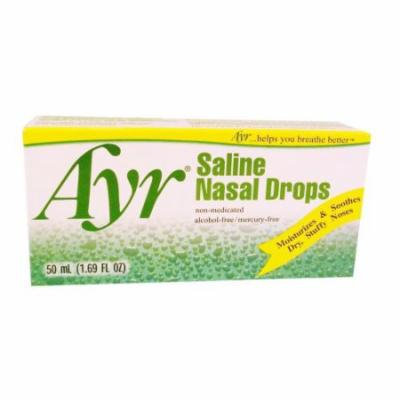 3 Pack - Ayr Saline Nasal Drops , 1.69oz Each