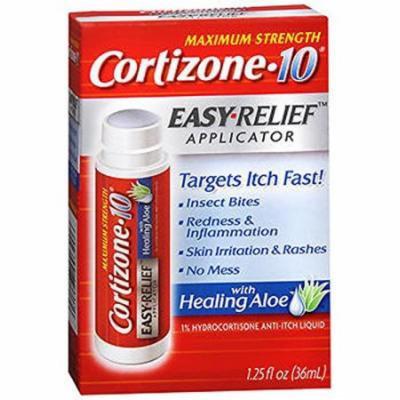 6 Pack Cortizone 10 Hydrocortisone Anti-Itch Easy Relief Applicator 1.25oz Each