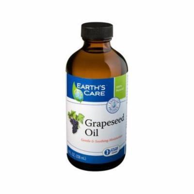 Earths Care 1216241 100 Percent Pure Grapeseed Oil, 8 fl oz