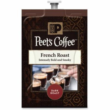 Peet's Coffee & Tea French Roast Coffee - Compatible with Flavia - Caffeinated - French Roast - Dark - 72 / Carton