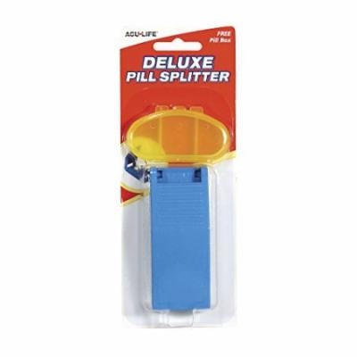 6 Pack - Acu-Life Deluxe Pill Splitter With Pill Box 1 of Each