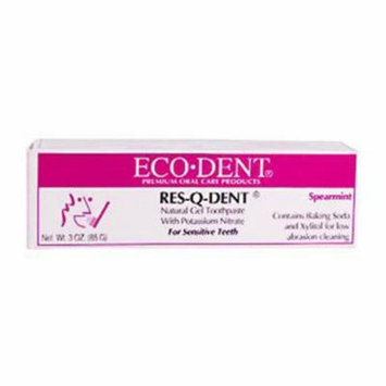 Eco-Dent Res-Q-Dent Toothpaste - Spearmint - 3 oz