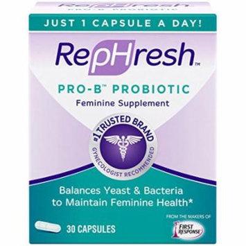5 Pack - Rephresh Pro B Probiotic Feminine Supplement 30 Capsules - 1 Per Day