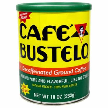 Bustelo Decafeinated Cuban Coffee. Vacuum Can 10 oz