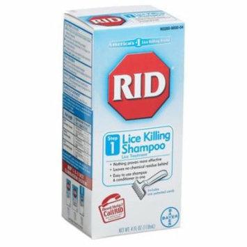 4 Pack - RID Lice Killing Shampoo 4oz Each