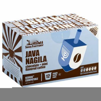 JAVA FACTORY COFFEE JAVA NAGILA, 12 PC (Pack of 6)