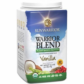 Sunwarrior - Warrior Blend, RAW Plant Based Protein, Vanilla, 40 Servings (2.2 lbs)