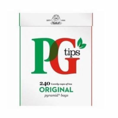 PG Tips Black Tea, Pyramid Tea Bags, 240Count Boxes (Pack of 2) by PG Tips